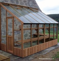 Pine Lean-to Greenhouse with Safety Glass 10'5 x 6'7