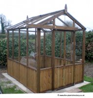 Traditional Timber Greenhouse 8ft x 6ft inc. Vat and Delivery