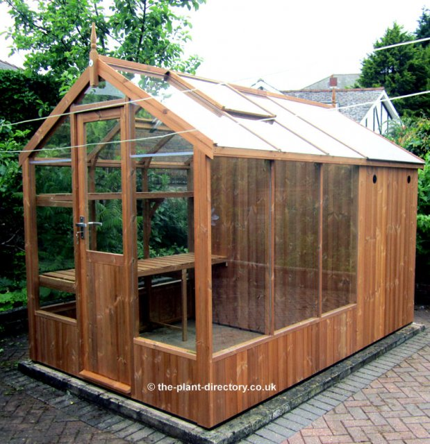 Greenhouse Shed Combination 4'3 x 6'8 Greenhouse + 4'3 Shed - Click Image to Close