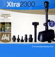 2300L Libel Xtra Pond & Fountain Pump with FREE Sponge