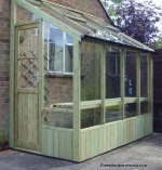 Lean-to Timber Greenhouses