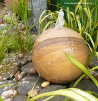 Rainbow Sphere Sandstone Water Feature - 40cm