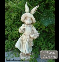 Mrs Rabbit Statue Stone effect