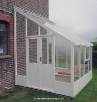 Painted Lean-to Greenhouse 8'4 x 8'8 Lily White