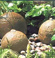 Weathered Stone - Set of Three Stone Balls