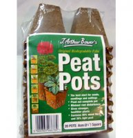 Biodegradable Peat Pots - Square 6cm x 20
