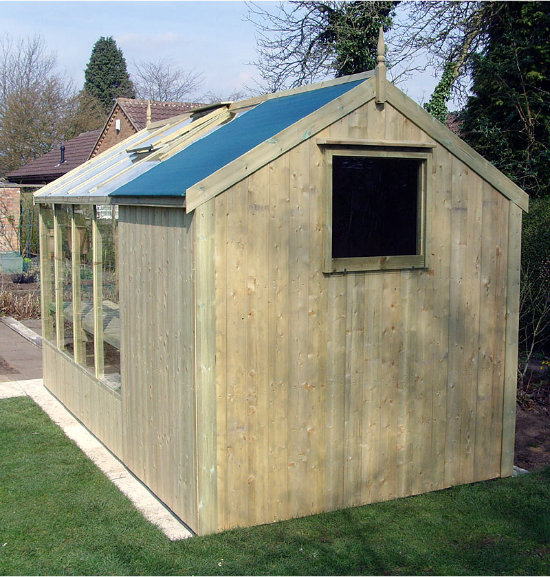 Garden Shed Greenhouse Combo