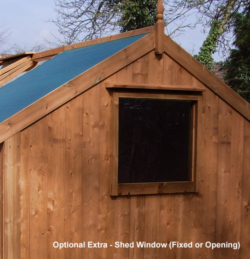 Greenhouse Shed Combination 18'10 x 6'8 Greenhouse + 4'3 Shed - Click Image to Close