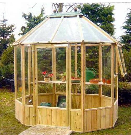 Octagonal Timber Greenhouse 8 x 6 including Free Delivery