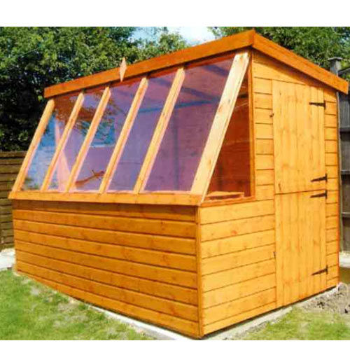 Chestnut Potting Shed 8' x 8' inc Vat & Delivery* - Click Image to Close